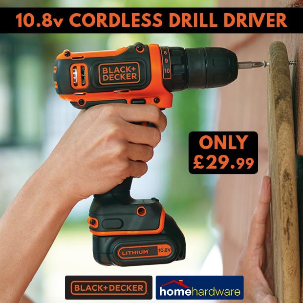 10.8v cordless drill driver