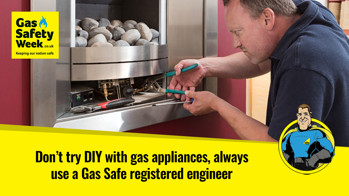 Don't DIY with gas appliances, always use a Gas Safe registered engineer.